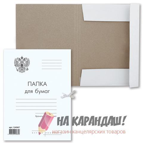 Папка карт н/завяз 300г Герб России Brauberg 124567