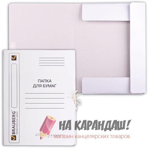 Папка карт н/завяз 320гр Brauberg 121513