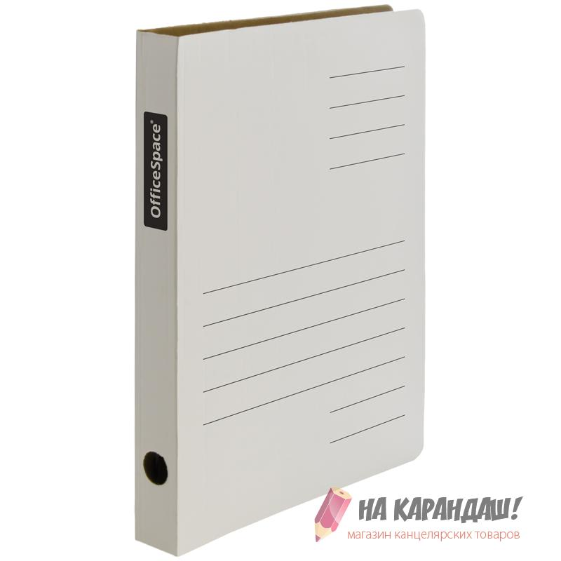 Скоросшиватель микрогофрокартона 30мм бел A-SG03_363/158545