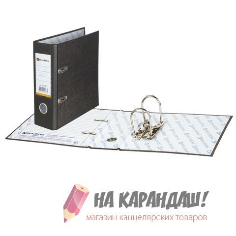 Регистратор А5/7 мрамор Brauberg 221721 черный