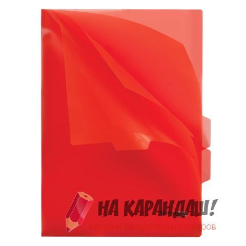 Папка-уголок А4 3отд Brauberg 150мк 224884/10/красный