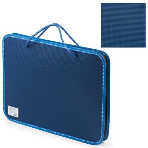 Папка н/молн А4 с руч 1отд пл Brauberg 225163 синий