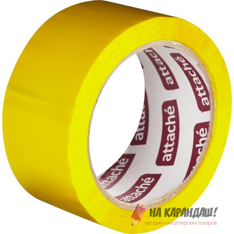Скотч цв желт 48*66м Attache 146162