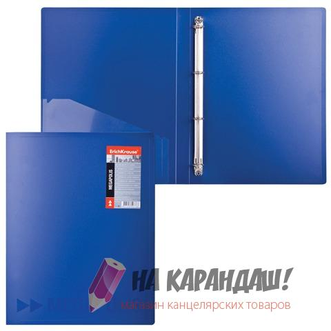 Папка 4-к А4 24мм EK Megapolis с карм син 14514