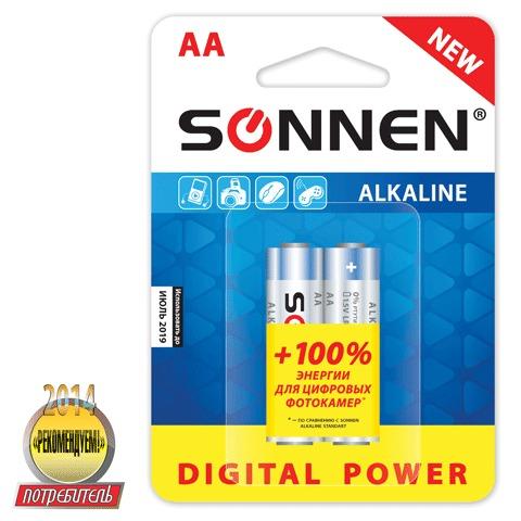 Батарейка Sonnen AA LR6 супералкал 2шт/уп 451093