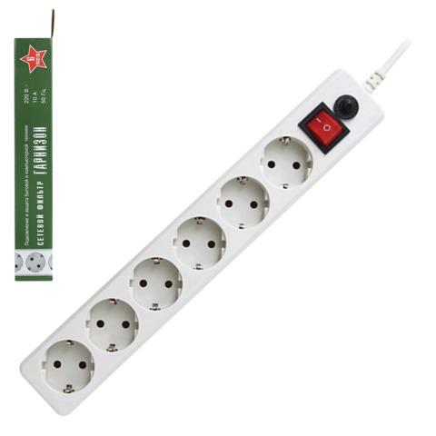 Сетевой фильтр Гарнизон 5м 6роз EHW-15