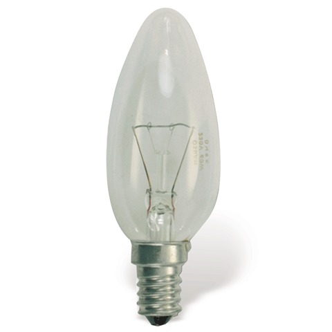 Лампа накал свеча 60Вт Osram Classic B CL E14 450323