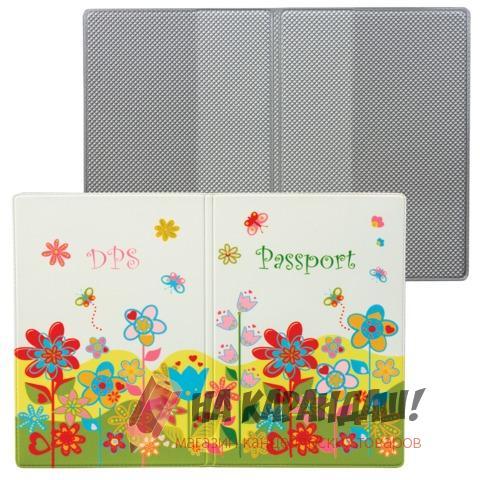 Обложка д/паспорта Твой стиль кожзам Цветы ДПС 2203.Т5