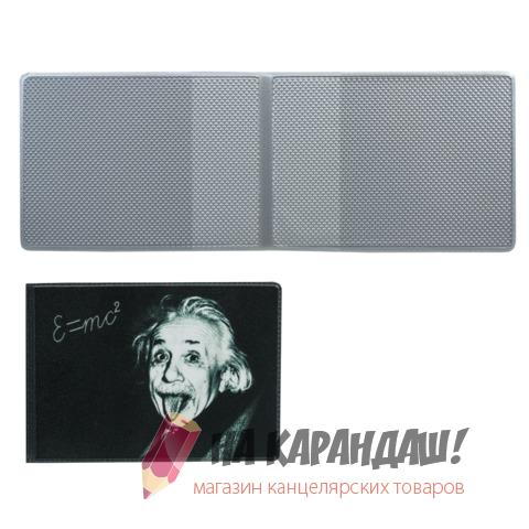 Обложка д/пл карт дорож и студ билетов кожзам Эйнштейн ДПС 2757.T3