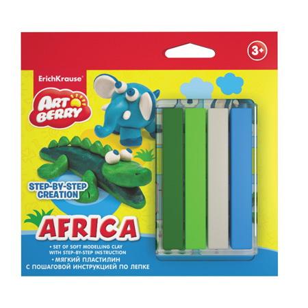 Пластилин мягкий 4цв Africa Step-by-step Creation EK 38538