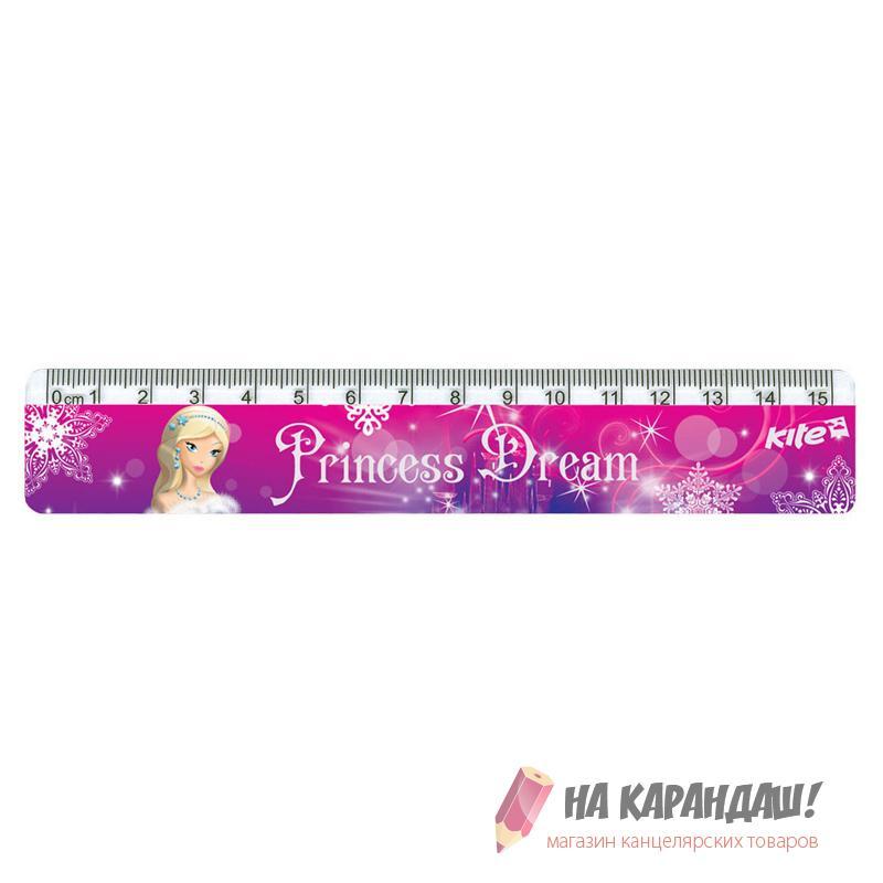 Линейка пластиковая 15см Princess Dream K17-090-2