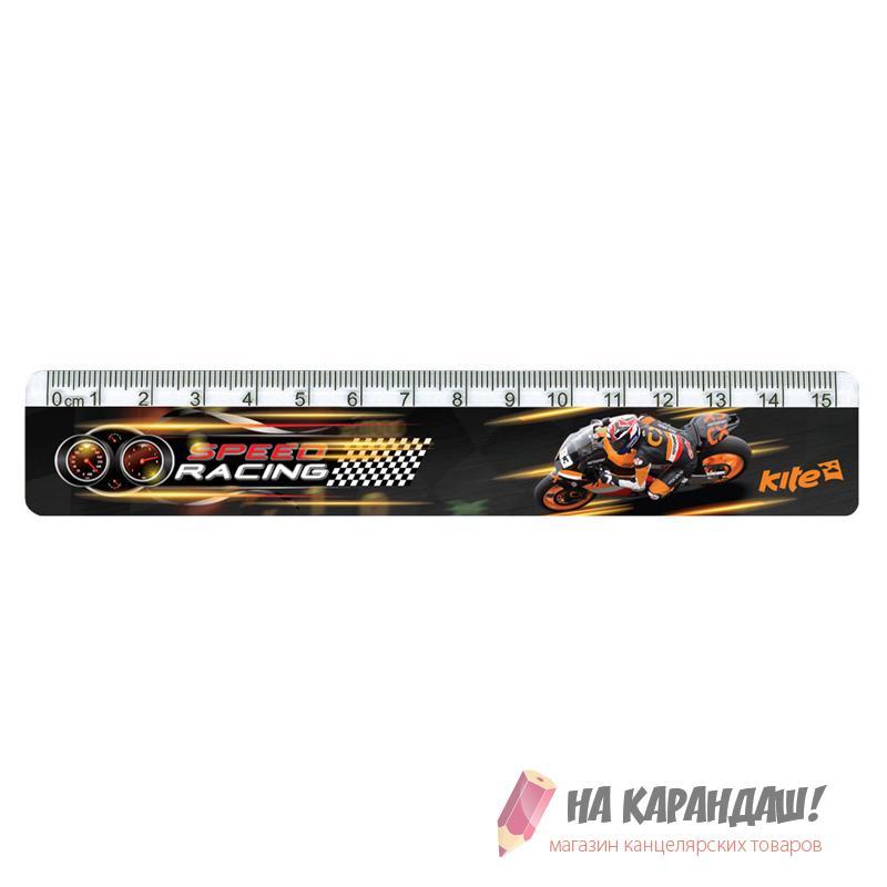 Линейка пластиковая 15см Speed Racing K17-090-4