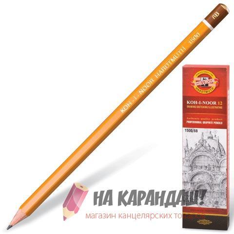 Карандаш графитный без ластика 6-гр KIN-1500 6В /12/