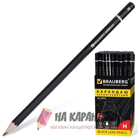 Карандаш графитный без ластика 6-гр Brauberg Touch line Brauberg H 180625/100/