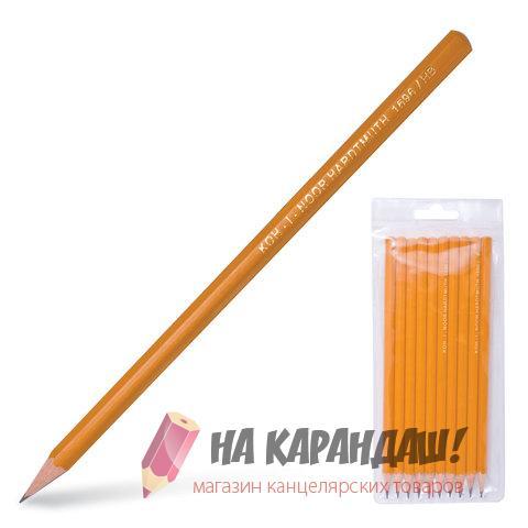 Набор карандашей графитных 10шт 2Н-2В КIN1696