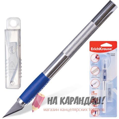 Нож канц скальпель мет+2лез EK16953