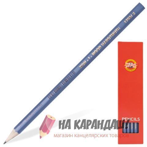 Карандаш графитный без ластика 6-гр KIN-1703 HB /12/