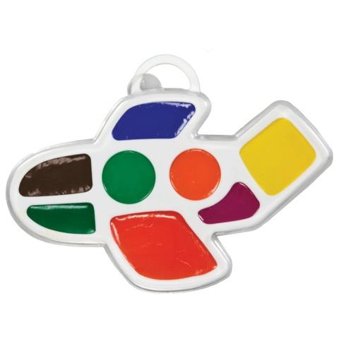 Краски акварельные медовые 8 цветов Кроха Самолетик 23С1437-08
