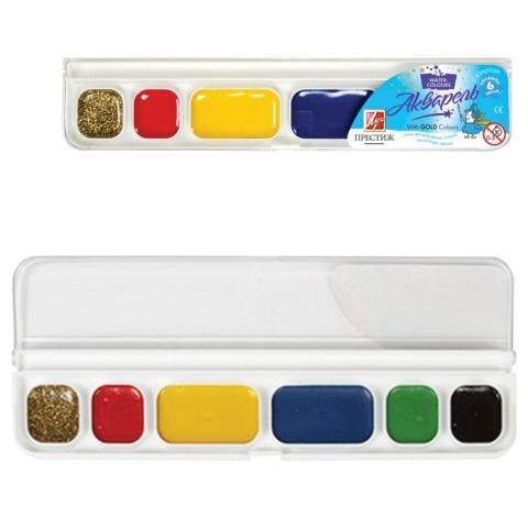 Краски акварельные медовые 6 цветов Престиж 18С1230-08