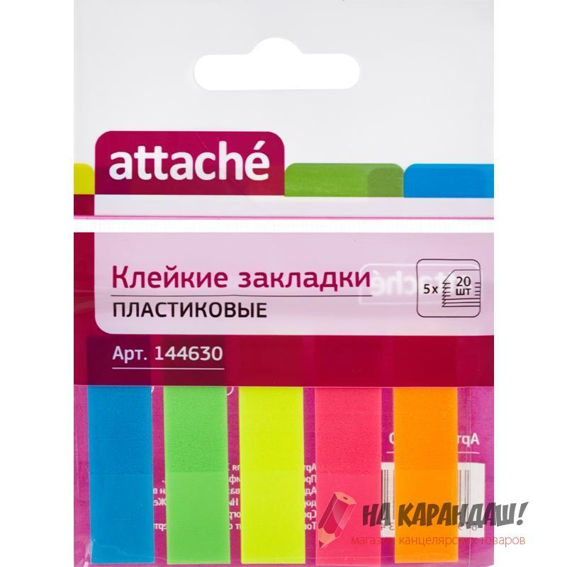 Стикер-закл 12*50мм 5*20л пл пр Neon Attache 144630