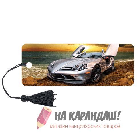 Закладка пл с лин 3D Автомобиль 152*57мм 6шт/уп Brauberg 125768