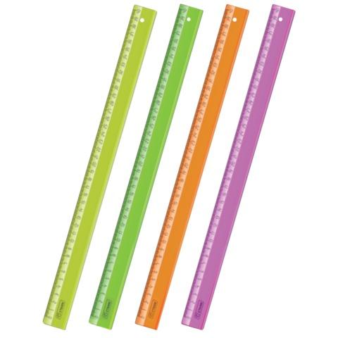 Линейка пластиковая 40см непрозрачная Cristal Neon ЛН520