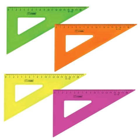 Треугольник 90*30 180мм проз Neon ассорт Стамм ТК47