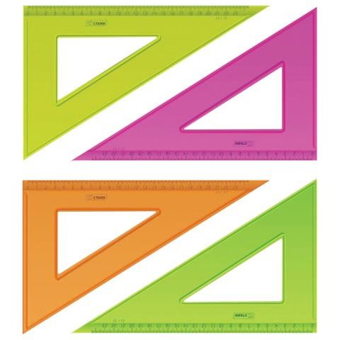 Треугольник пластиковый прозрачный угол 30 градусов 23см Neon ТК54