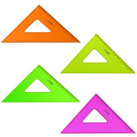 Треугольник 90*45 160мм проз Neon ассорт Стамм ТК57