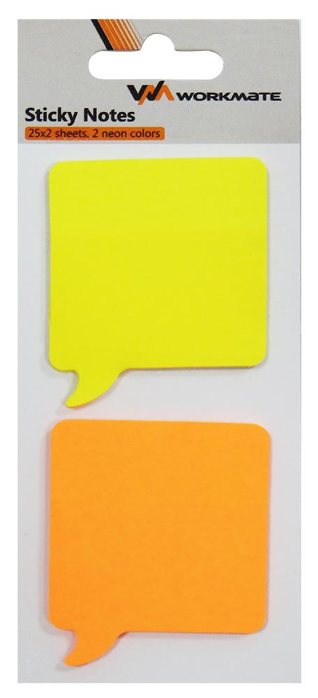 Стикер фигур Реплика 50*50мм 2*25л желт/оранж WM003002000