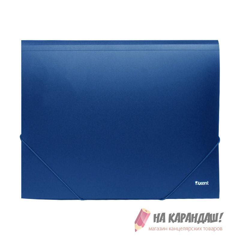 Папка н/рез А4 Axent н/пр синяя 1508-02
