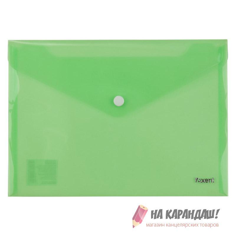 Конверт н/кн А5 Аxent зелен 1522-25