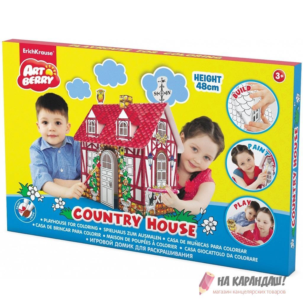 Н-р д/дет творч домик-раскраска Country house Artberry EK39224