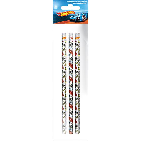 Набор карандашей графитных НВ б/л 3шт круг Hot Wheelse HWCB-US1-102-H3