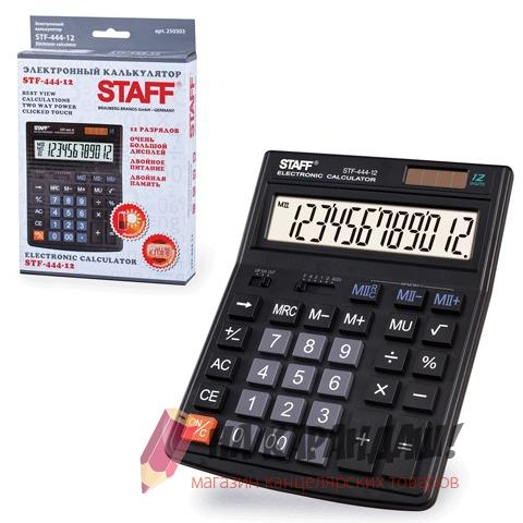 Калькулятор наст Staff 12раз 153*199мм STF-444-12