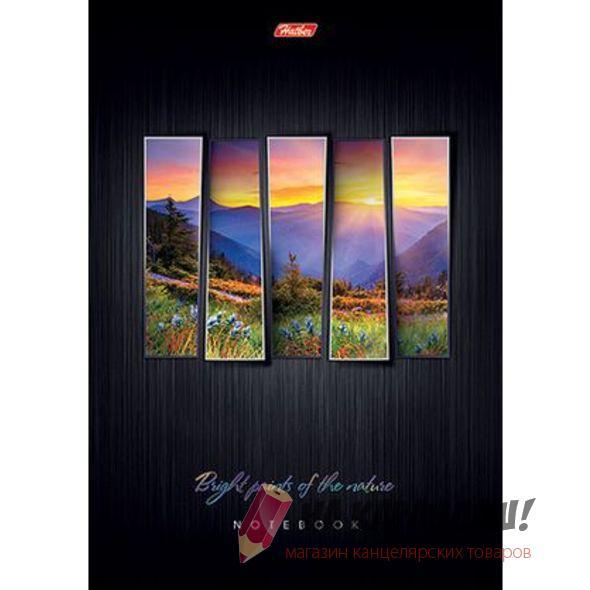 Блокнот А5 н/скл 40л кл МП Hatber 038329 Яркие краски природы