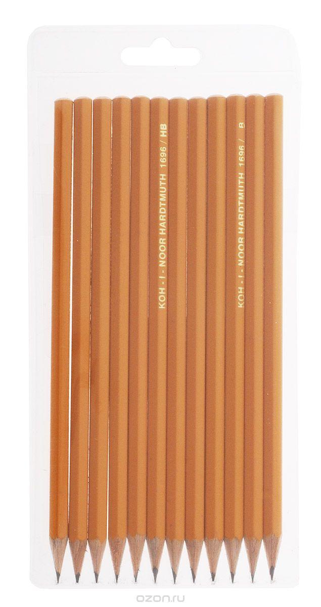 Набор карандашей графитных 12шт 2Н-2В КIN1696