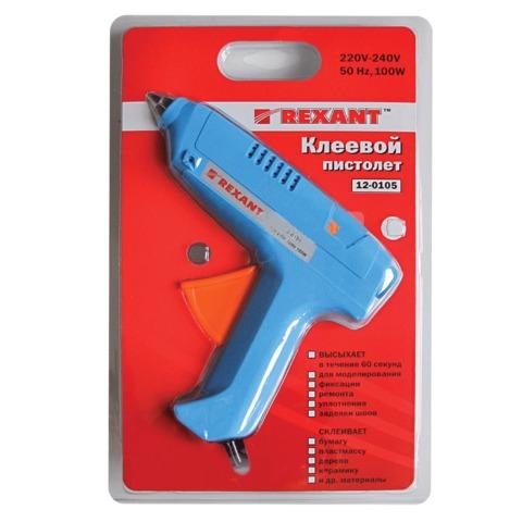Клеевой пистолет 11мм 100 Вт Rexant 670018 12-0105