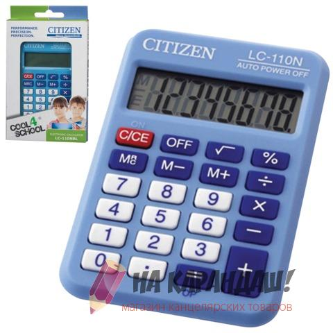 Калькулятор карм 8раз 58*87мм Citizen LC-110NBL