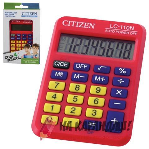 Калькулятор карм 8раз 58*87мм Citizen LC-110NRD