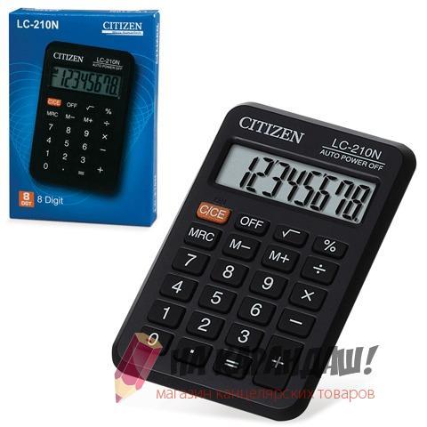 Калькулятор карм 8раз 64*99мм Citizen LC-210N