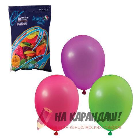 Шар воздушный 25см 12цв Neon mix 100шт/уп 1101-0002