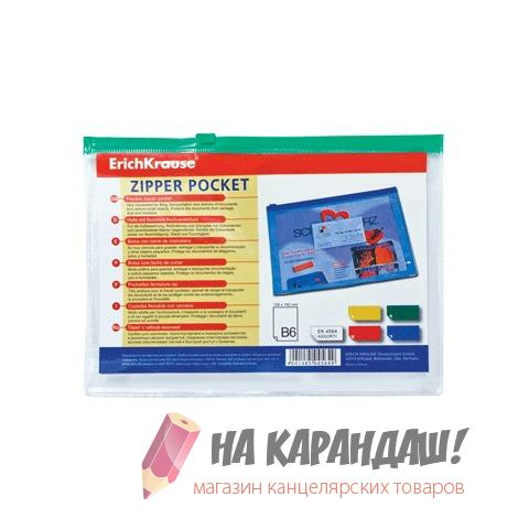 Конверт н/мол В6 Zip Pocket проз mix б/карм EK4564/12/