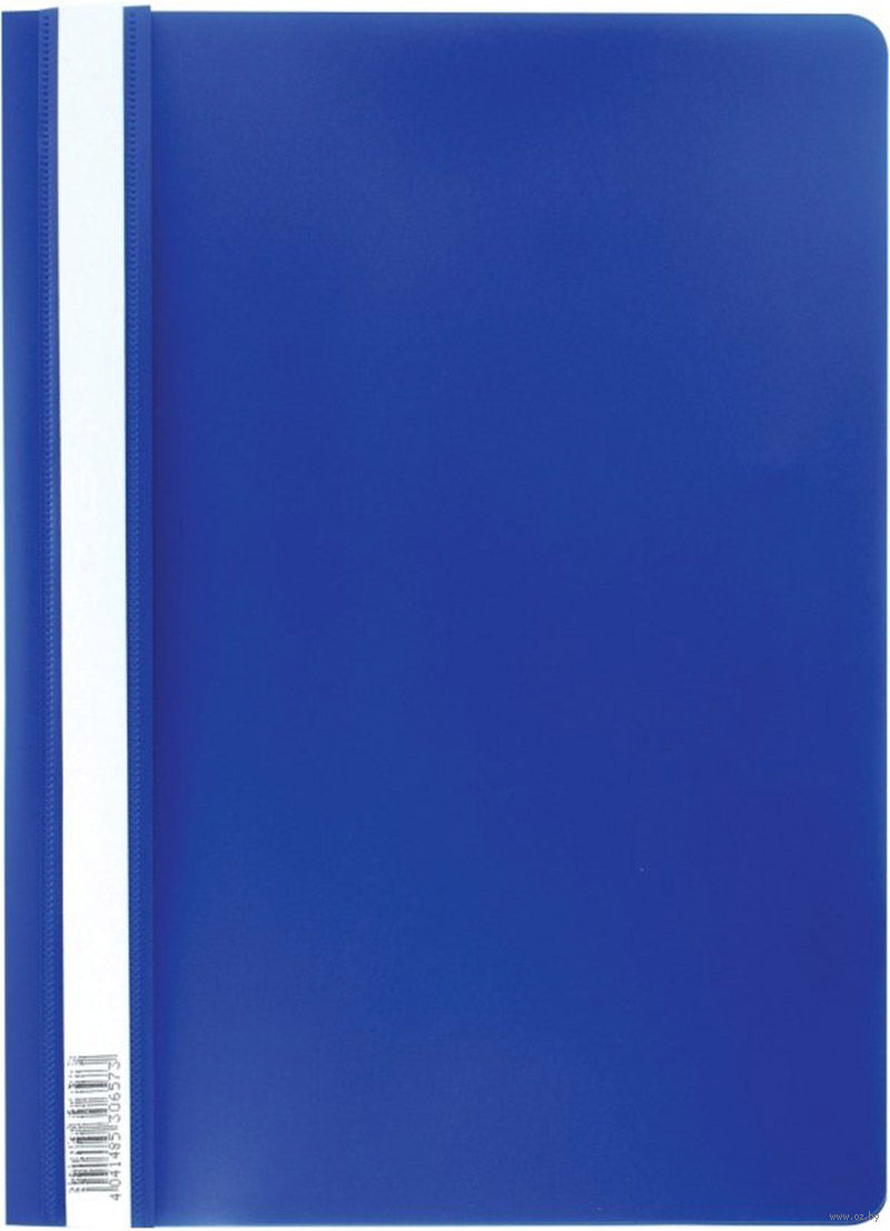 Скоросшиватель пластиковый А4 Semi-Clear Economy синий EK30657