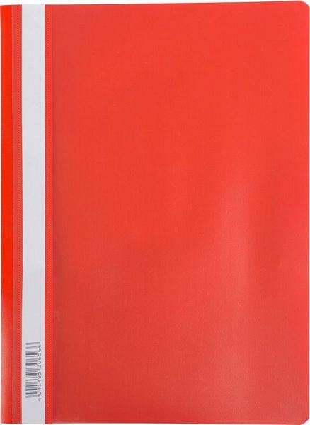 Скоросшиватель пластиковый А4 Semi-Clear Economy красный EK30658
