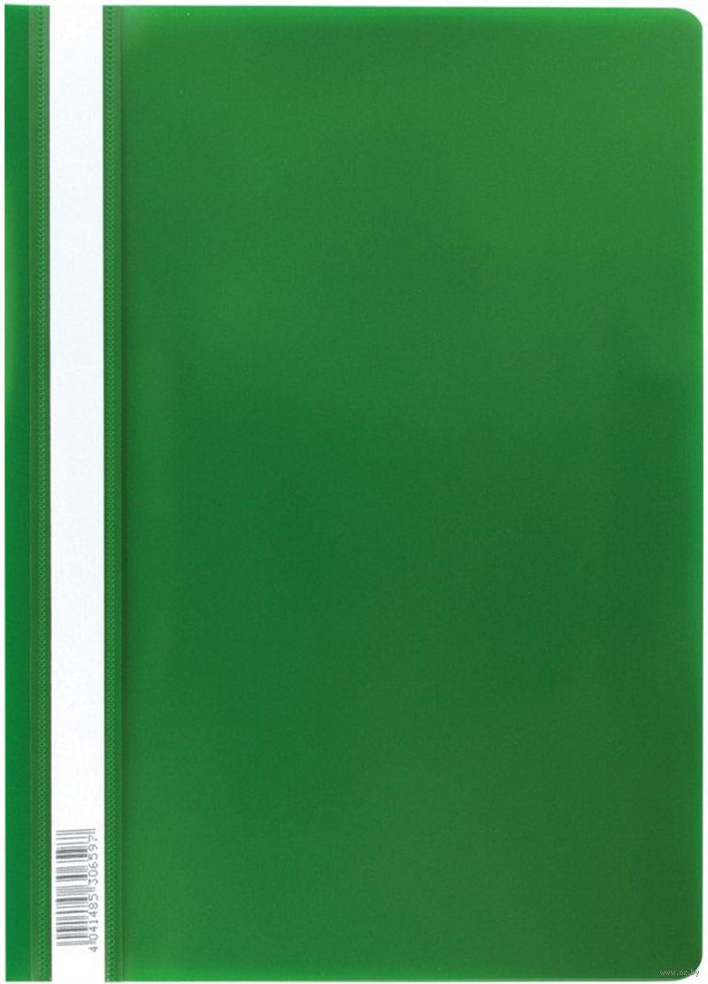 Скоросшиватель пластиковый А4 Semi-Clear Economy зеленый EK30659