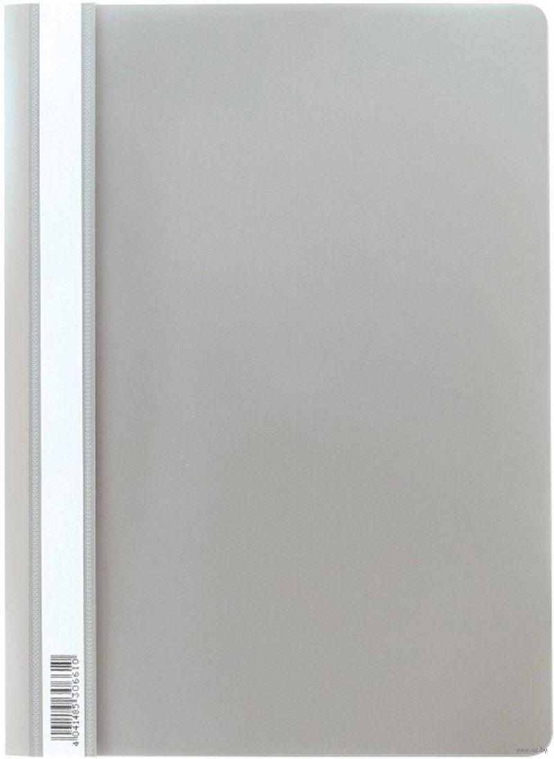 Скоросшиватель пластиковый А4 Semi-Clear Economy серый EK30661