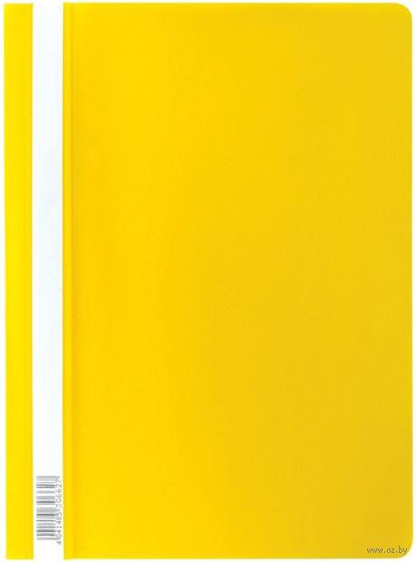 Скоросшиватель пластиковый А4 Semi-Clear Economy желтый EK30662