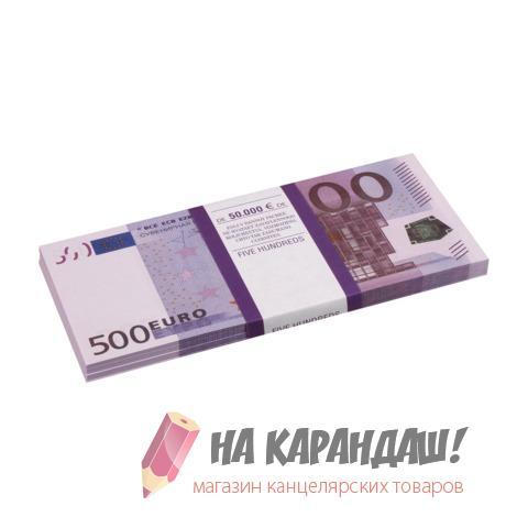 """Шуточные деньги """"500 евро"""" блист 72458"""