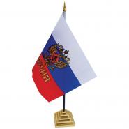 Флаг России с гербом настольный FL_3094